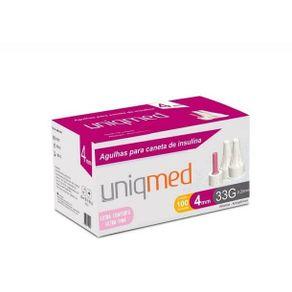 Agulhas-para-Caneta-de-Insulina-ULTRA-FINA-4mm--Caixa-com-100-Unidades---UNIQMED