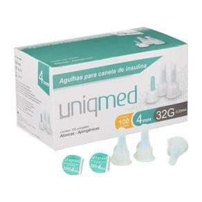 Agulhas-para-Caneta-de-Insulina---Caixa-com-100-Unidades---32g---4mm---UNIQMED