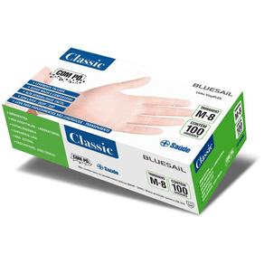 Luva-de-Vinil-Transparente-Com-Po-Classic---Caixa-100-unidades