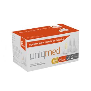 Agulhas-para-Caneta-de-Insulina-6mm-31G---Cx-100un---UniqMed--1-