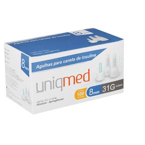 Agulhas-para-Caneta-de-Insulina-8mm-31G---Cx-100un---UniqMed--1-